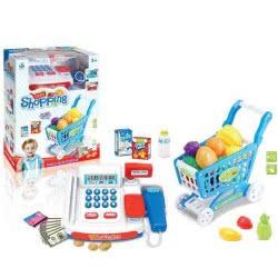 Toys-shop D.I Shopping Deluxe Ταμειακή Μηχανή Και Καρότσι Αγορών Με Αξεσουάρ JU043118 6990119431182