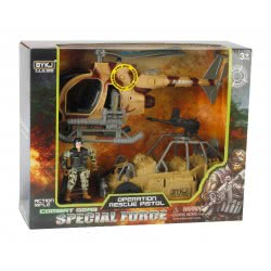 Toys-shop D.I Special Force Στρατιωτικό Σετ Με Ελικόπτερο, Όχημα Και Στρατιώτη JY054922 6990119549221