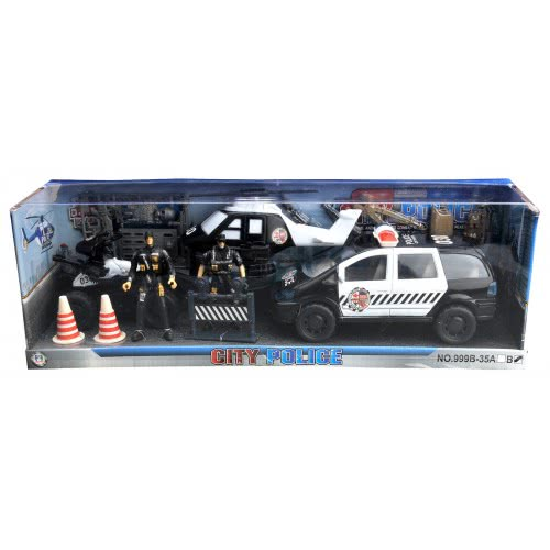 Toys-shop D.I City Police Set With Cops, Helicopter And Jeep JY055173 6990119551736