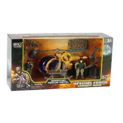 Toys-shop D.I Special Force Military Set With Helicopter And Soldiers JY054909 6990119549092