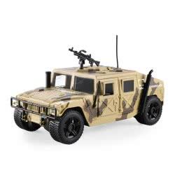Toys-shop D.I Friction Στρατιωτικό Hummer ερήμου με φώτα και ήχους 1:16 JA086983 6990119869831