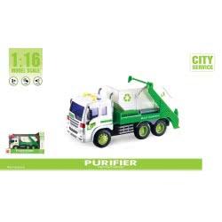 Toys-shop D.I Friction Φορτηγό μεταφοράς Κάδων με μπάζα 1:16 JA087028 6990119870288