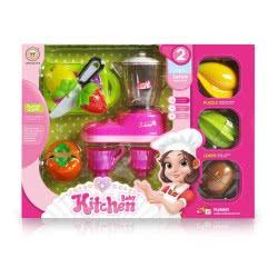 Toys-shop D.I Kitchen Baby Σετ Με Μίξερ Και Φρούτα JU042378 6990119423781