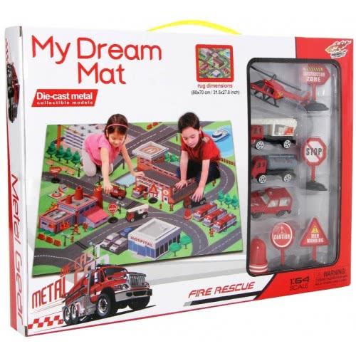 Toys Shop Di My Dream Mat Rug With Die Cast Fire Rescue Vehicles Ji043848