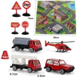 Toys-shop D.I My Dream Mat Χαλάκι Με Μεταλλικά Αυτοκινητάκια Πυροσβεστικής JI043848 6990119438488