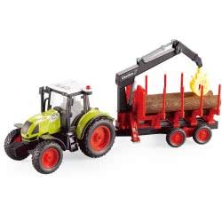 Toys-shop D.I Friction Τρακτέρ Με Φορτωτή, Τρέιλερ, Φώτα Και Ήχους 1:16 JA086682 6990119866823