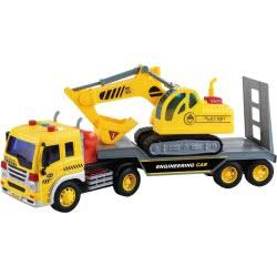 Toys-shop D.I Friction Φορτηγό Μεταφοράς Και Εκσκαφέας Με Φώτα Και Ήχους 1:16 JA086971 6990119869718