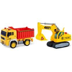 Toys-shop D.I Friction Φορτηγό Και Εκσκαφέας Με Φώτα Και Ήχους 1:20 JA086970 6990119869701