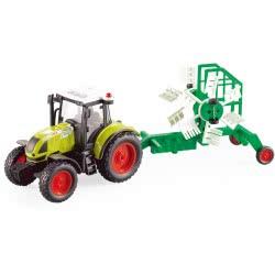 Toys-shop D.I Friction Τρακτέρ Με Τρέιλερ Για Καλλιέργειες, Φώτα Και Ήχους 1:16 JA086673 6990119866731