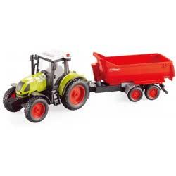 Toys-shop D.I Friction Τρακτέρ Με Καρότσα, Φώτα Και Ήχους 1:16 JA086671 6990119866717