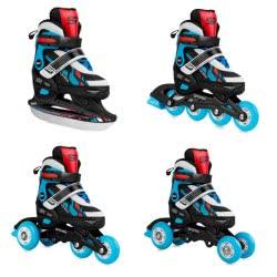 Spokey Feat 4 In 1: Πατίνια Και Ice Skates 4 Σε 1, R. 35-38 - Μπλε 924284 5902693242840