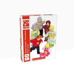 Hape Happy Family Ξύλινο Σετ Οικογένεια Caucasian E3500 6943478004566