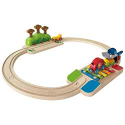 Hape Railway Ξύλινο Σετ Σιδηρόδρομος My Little Railway Set Toy E3814 6943478016200