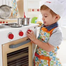 Hape Playfully Delicious Ξύλινη Κουζίνα Cook N Serve Kitchen E3126 6943478009981