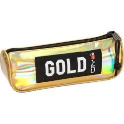 LYC SAC Σχολική Κασετίνα Βαρελάκι City Eclair Trendy - Gold Mirror 22399 5203592223993