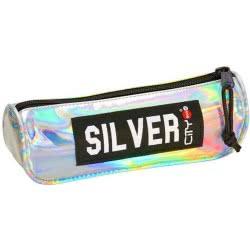 LYC SAC Σχολική Κασετίνα Βαρελάκι City Eclair Trendy - Silver Mirror 22299 5203592222996