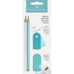 Faber-Castell Sparkle Pencil Set - Turquoise 218476 4005402184767