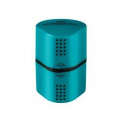 Faber-Castell Ξύστρα Τριπλή Grip Τιρκουάζ 183803 4005401838036