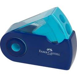 Faber-Castell Ξύστρα Διπλή Mini Sleeve Δίχρωμη - 3 Χρώματα 182704 6933256640468