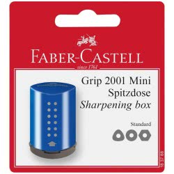 Faber-Castell Single Sharpener Grip 2001 Mini - Blue, Red - 2 Colours 183788 4005401837886