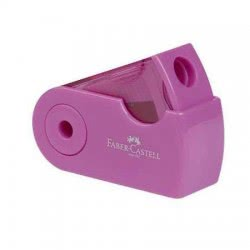 Faber-Castell Sleeve Μονή Ξύστρα Λιλά, Ροζ, Τυρκουάζ - 3 Χρώματα 182718 6933256641557