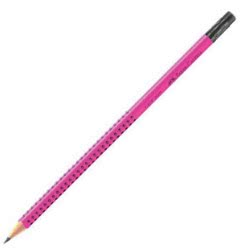 Faber-Castell Pencil Grip 2001 With Eraser HB - Pink 217039 4005402170395
