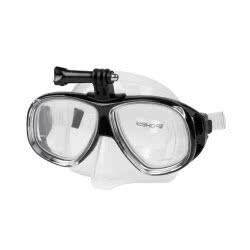Spokey Tamuk Camera Μάσκα Κολύμβησης Με Κράτημα Για Φωτογραφική Μηχανή - Μαύρο 922560 5902693225607