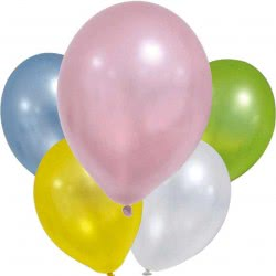 PROCOS Metallic Pastel Balloons 30cm - 6pcs 088884 5201184888841