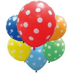 PROCOS Μπαλόνια Γενεθλίων Dots Πολύχρωμα - 6Τμχ 088885 5201184888858