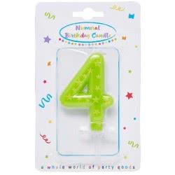 PROCOS Numeral Candles No. 4 089167 5201184891674