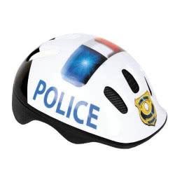 Spokey Police Kids Helmet 49-56 Cm - White 82064 5907640820645