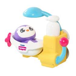 TOMY Toomies Peryns Shower And Scrub Παιχνίδι Μπάνιου Πιγκουΐνος Στο Μπάνιο 1000-72610 5011666726109