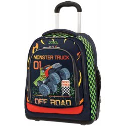 POLO Primary School Trolley Backbag Belike/Glow (P.R.C) 2019 - Monster Truck 901252-60 5201927100995