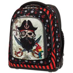 POLO Primary School Trolley Backbag Belike/Glow (P.R.C) 2019 - Pirate 901252-61 5201927101008