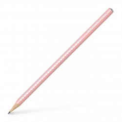 Faber-Castell Sparkle Pearl Pencil B - Rose 118201 4005401182016