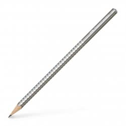 Faber-Castell Sparkle Pearl Pencil B - Silver 118213 4005401182139