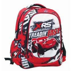 GIM Cars Treadin Fast Primary School Backpack 341-44031 5204549122277