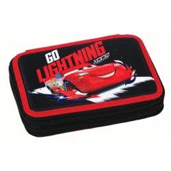 GIM Cars Racing Go Lightning Κασετίνα Διπλή Γεμάτη 341-43100 5204549118423