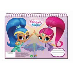 GIM Shimmer And Shine Painting Block Α4 30 Sheets 334-46413 5204549121003