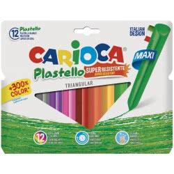 CARIOCA Plastello Resistant Maxi Body Κηρομπογιές - 12 Τμχ C42671 8003511426712