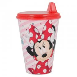 Stor Minnie Mouse Easy Sipper Glass 430ML B18884 8412497188840