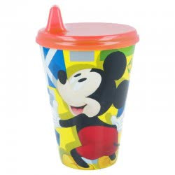Stor Mckey Mouse Easy Sipper Glass 430ML B44284 8412497442843