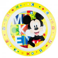 Stor Mickey Mouse Kids Micro Plate - Yellow B44247 8412497442478