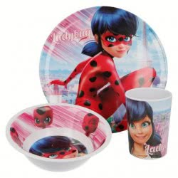 Group Operation Miraculous Ladybug 3 Pieces Dinnerware Share B86915 8412497869152