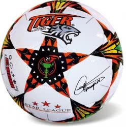 Μπάλα Ποδοσφαίρου Tiger Pro Star Άσπρο-Πορτοκαλί Φωσφορούχο 35/805 5202522008051