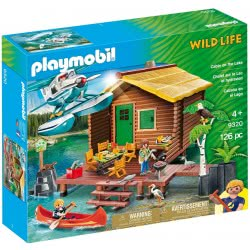 Playmobil Wild Life Καλύβα Λίμνης Και Υδροπλάνο 9320 4008789093202