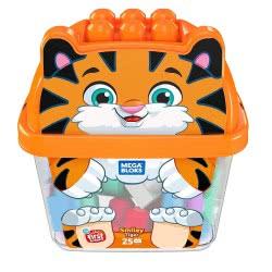 MEGA BLOKS Smiley Tiger 25 Building Blocks GCT46 / GCT48 887961734324
