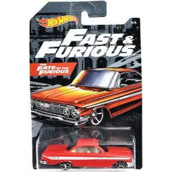 Mattel Hot Wheels 2019 Fast And Furious 61 Chevrolet Impala Red GDG83 / FYY57 887961749137