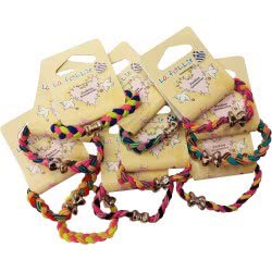 LA FOLLIE Παιδικό Λαστιχάκι Μαλλιών Πλεκτό Χρυσό - 1 Τμχ 11940-11 5202703024627