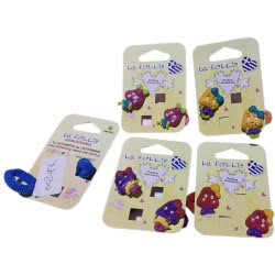 LA FOLLIE Παιδικό Λαστιχάκι Μαλλιών Με Καστόνι - 5 Χρώματα 00347 5202702007690